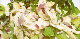 coconut oil post chicken basil salad