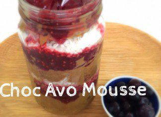 coconut oil post choc avo mousse