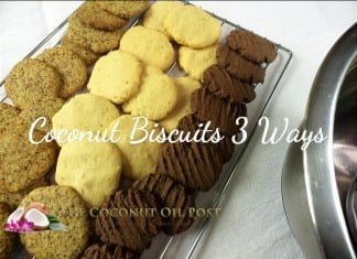 coconut oil post coconut biscuits 3 ways