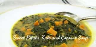 coconut oil post sweet potato, kale and coconut soup