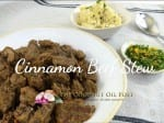 Coconut oil post Cinnamon Beef Stew