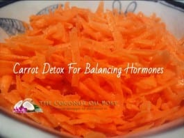 coconut oil post carrot detox