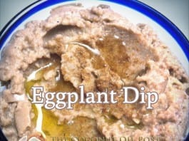 coconut oil post eggplant dip
