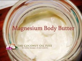 coconut oil post DIY magnesium body butter