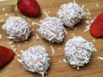 coconut oil post strawberry smoothie bliss balls 10