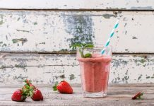 Coconut Oil Post Low Carb Strawberry Smoothie
