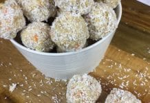 Coconut oil post coconut, carrot, ginger fat bombs